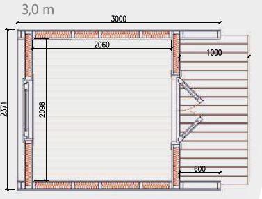 2.4m x 3.0m Floor Plan