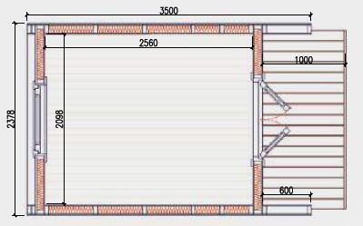 2.4m x 3.5m Floor Plan