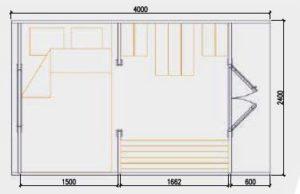 2.4m x 4.0 Floor Plan