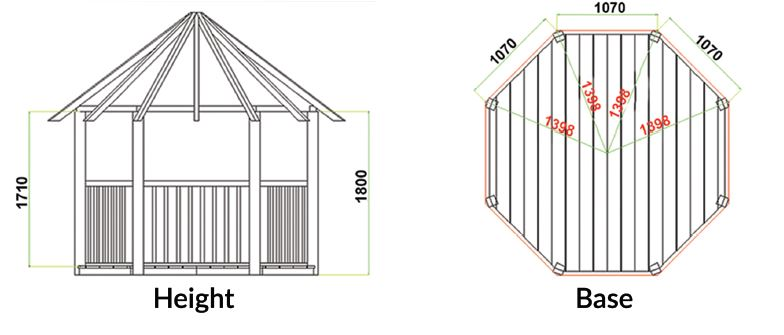 Unico Gazebo Dimensions